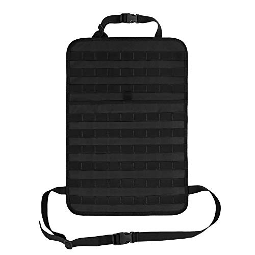 Wynex Car Seat Back Organizer Pocket Storage, Tactical MOLLE Panel Vehicle Seat Cover Protector Kit Mat Kick Mats Waterproof Universal Automotive (Black) ()