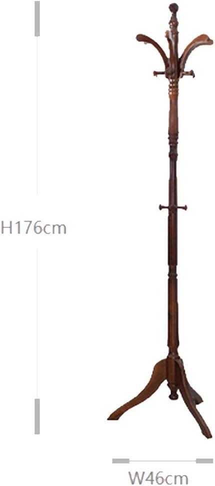 Amazon.com: Perchero perchero de pie madera maciza elegante ...