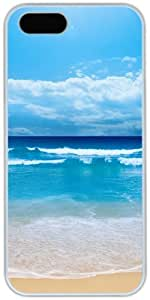 Blue Beach Retro For HTC One M7 Phone Case Cover Hard Shell White Cover Cases by iCustomonline