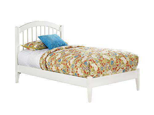 Atlantic Furniture AP9421002 Windsor Platform Bed with Open Foot Board, Twin, White ()