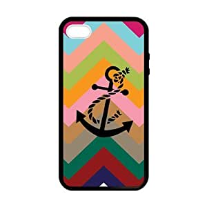 Infinity Anchor Laser TPU Black Cover Case for Apple IPhone 4/4S- Fits for Apple Iphone 4 and Iphone 4S IP4-Laser122