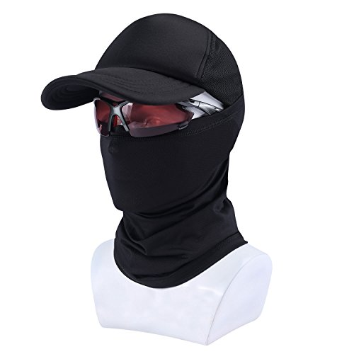 Resistant Neck Gaiter (SUNMECI Winter Neck Gaiter Warmer Windproof Dust - Free UV Face Mask Black)