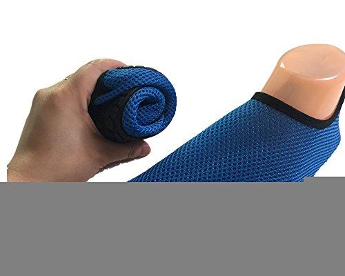ChicWind Schnell Trocknende Mesh Slip On Socken Wasserdichte Athletische Wasserschuhe Blau