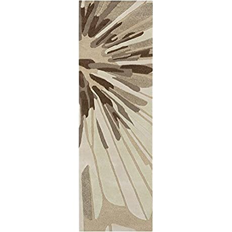 Surya Candice Olson Modern Classics CAN 2032 Hand Tufted 100 Percent New Zealand Wool Floral And Paisley Runner Rug 2 Feet 6 Inch By 8 Feet