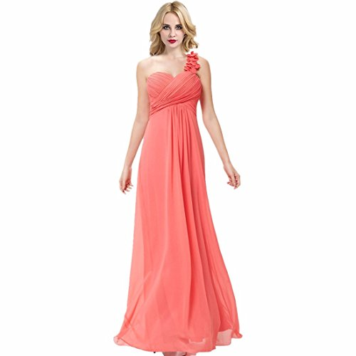 AiMoichien lange Rock Damen Chiffon Brautjungfer Kleider Prom ...