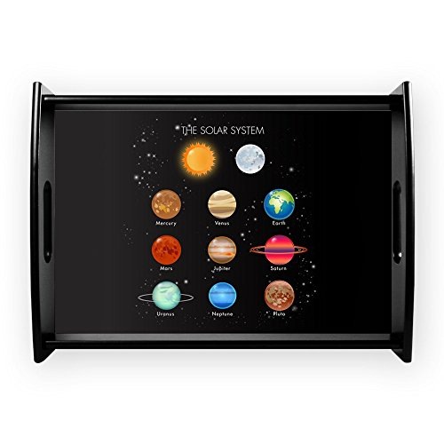 Large Serving Tray Solar System Sun Moon and Planets by Royal Lion