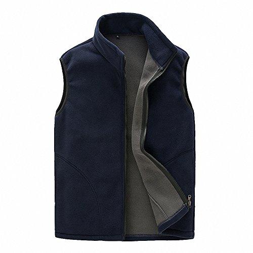 Maoko Men's Polar Fleece Mountain Vest Jackets Navyblue (Tac 1 Swiss Arms)