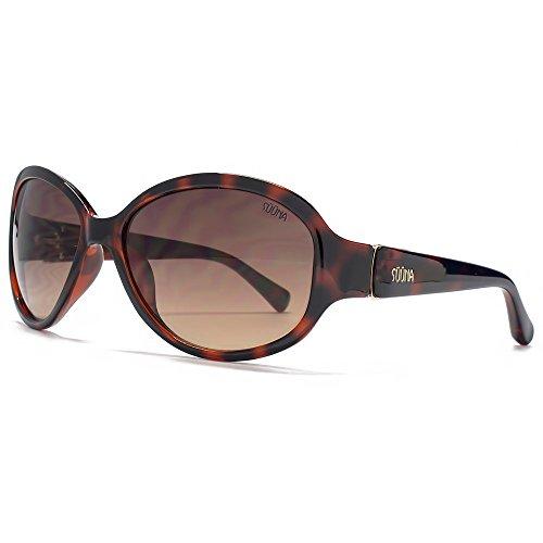 SUUNA Corrine Classic lunettes de soleil ovales en écaille SUU123 Grey Brown Gradient