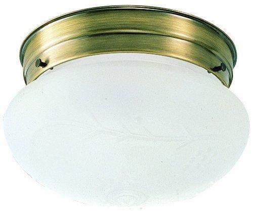 Design House 501866 1 Light Ceiling Light, Antique Brass (Antique Brass Ceiling Light)