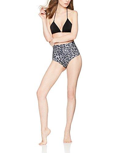 IRIS & LILLY Braga de Bikini Alta para Mujer Gris (Animal Print)