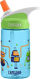 CamelBak Eddy Kids Water Bottle, Retro Robots, 0.4 L