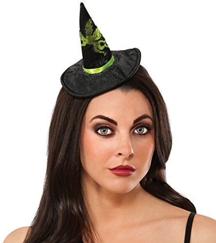 Rubie's Women's Wizard Of Oz Wicked Witch Of The West Hat Headband, Black/Green, One Size