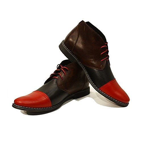 PeppeShoes Lace Up Mens Leather Smooth Chukka Colorful Cirillo Cowhide Handmade Boots Ankle Modello Italian Leather qrq6WTcRCw