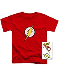 Youth Flash Lightning Bolt Logo T Shirt for Boys & Exclusive Stickers