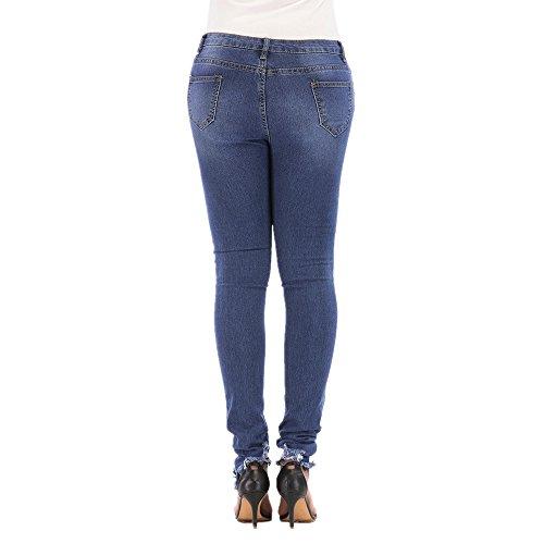 Da Hole Jeans Blue Fashion Donna Pantaloni Grossartig Feet afqw44