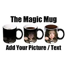 2 X Personalised Colour Changing Coffee Mug Cup YOUR PHOTO & TEXT Magic Mug WOW by PersonaliseItOnline