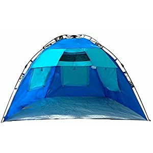 EasyGo Shelter - Instant Easy Up Beach Umbrella Tent Sun Sport Shelter