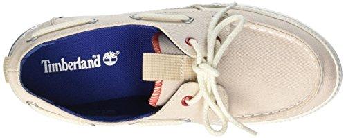 Timberland Damen Newport Bay_Newport Bay Canvas Boat O Bootsschuhe Beige (White Red Blue)