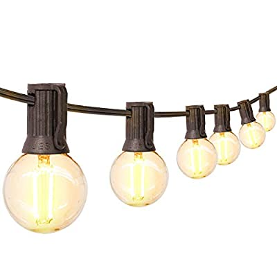 hykolity LED String Light with G140 Globe Bulbs