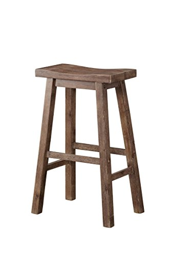 Boraam 75029 Sonoma Bar Height Saddle Stool, 29-Inch, Wire-Brush
