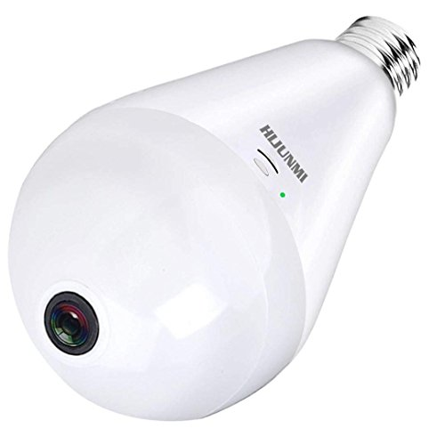 Fisheye Video (WIFI Security Light Bulb Camera,HD Fisheye Lens 360 Degree VR Panoramic Light Bulb IP Cameras Indoor/Outdoor Home Security 1080P Cam with Remote View Motion Detection & Night Vision)