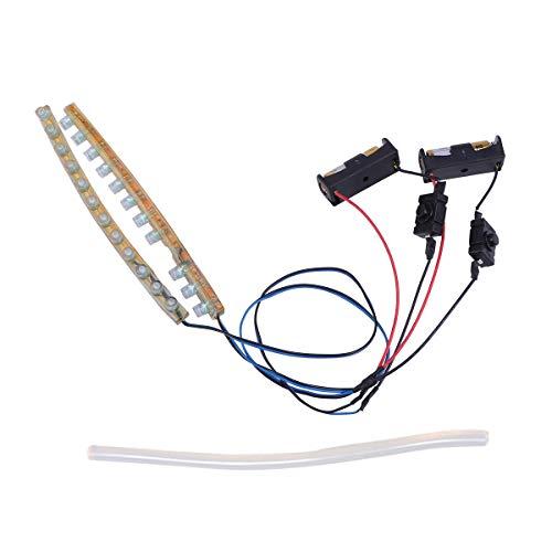 Vosarea 2pcs 12cm LED Light Bar for Roller Inline Roller Skates (Blue Light) -