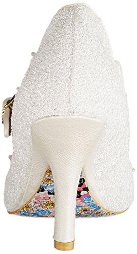Irregular Choice Shimmer Mary Jane Donna Off-white ivory