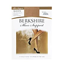 Berkshire Queen Silky Sheer Support Pantyhose - Sandalfoot