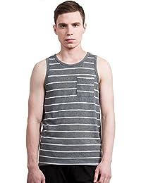 "<span class=""a-offscreen"">[Sponsored]</span>Allegra K Men Striped Round Neck Chest Patch Pocket Sleeveless Tank Top Vest"