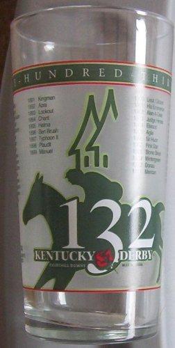 Kentucky Art Glass - Kentucky Derby 132 May 6 2006 Official Harry M Stevens Glass by Mint Julep glass