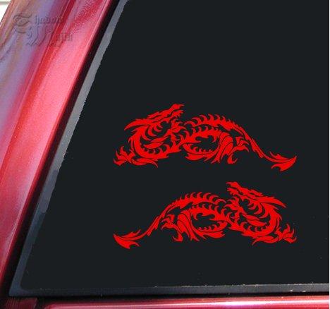 Mirrored Set Of Blade Dragon Vinyl Decals Stickers (6