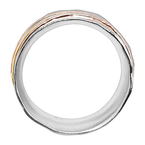 Silpada 'Gold Rush' Spinner Ring in Sterling Silver & 18K Yellow & Rose Gold Plate by Silpada (Image #2)