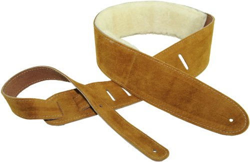 Perris Leathers DL325S-200 2.5-Inch Soft Suede Guitar Strap with Sheep Skin Pad