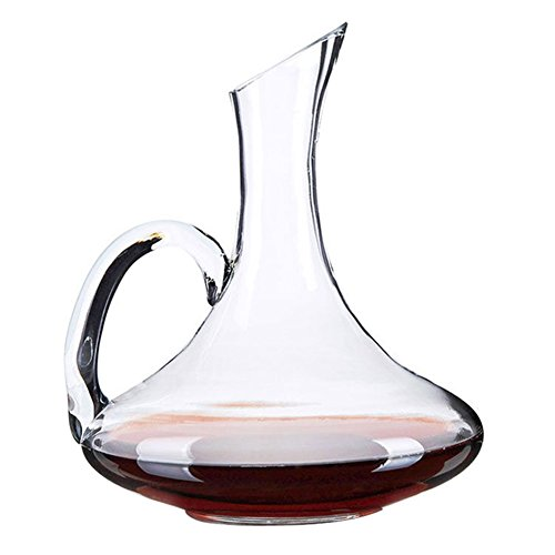 Wine Decanter, Wuudi Decanter Carafe Hand-Blown Crystal Carafe with A