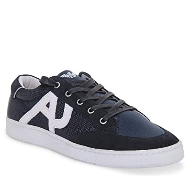a753a4b8f76c Armani Jeans Aj Logo Casual Lace Up Trainer In Navy  Amazon.co.uk  Shoes    Bags