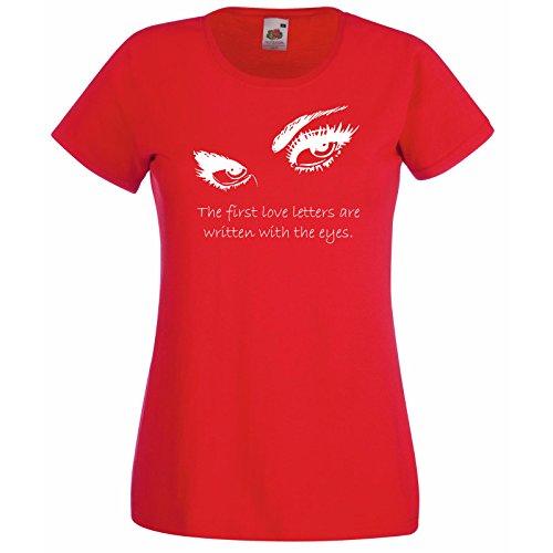 lettere Le Decal Red Eyes Design prime occhi Random T donna Loom con sono Fruit The Silhouette d'amore scritte shirt da Premium Of Citazione Free The Gift Super w1aqacZ64y