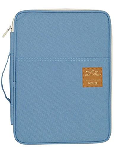 Mygreen Universal Travel Gear Organizer/Electronics Accessories Bag/Document File Bag (Large, Light Blue) by mygreen