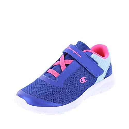 Champion Blue Light Blue Mesh Girls' Gusto Strap Cross Trainer 4 Regular