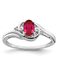 925 Sterling Silver Diamond Red Ruby Band Ring Gemstone Fine Jewelry For Women Gift Set