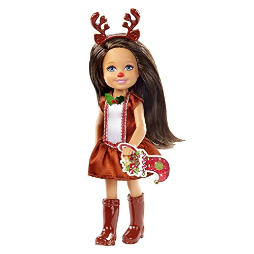 Costume Barbie Brunette Doll (Barbie Chelsea 2014 Christmas Brunette Doll in Reindeer)