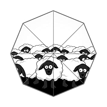 Diseño de las ovejas Auto paraguas lluvia personalizado paraguas plegable regalo para amigo chico familia G