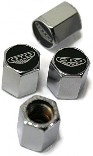 Pontiac GTO 6.0 Black Chrome Wheel Air Tire Valve Stem Cap Tool ABS (Pontiac Gto Rims)