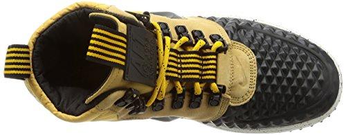 Nike Lunar Force 1 Duckboot 17 916682-701 Herren Boots High Top Air Sneaker Stiefel Leder Lunarlon Wasserabweisend LF1 Mehrfarbig (Braun)