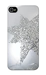 For Iphone 5/5s Premium Tpu Case Cover Silver Christmas Ornament Protective Case