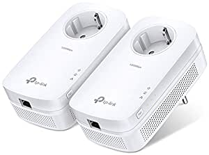 TP-Link TL-PA8010PKIT - AV1200 Adaptador de red Gigabit Powerline (1200 Mbps, MU-MIMO, puerto de 1 Gigabit, toma de corriente, ideal para HDTV, ahorro de energía, Plug & Play)