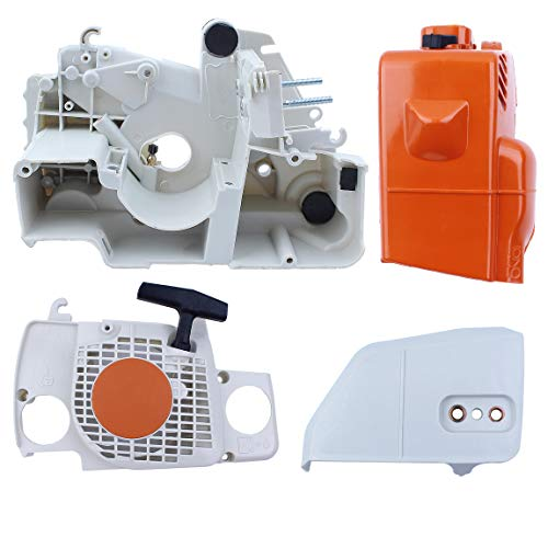 Crankcase Top - Haishine Crankcase Top Engine Cover Recoil Starter Kit for Stihl 017 018 MS170 MS180 Chainsaw Clutch Sprocket Cover Parts