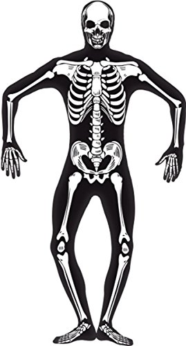 Skeleton Glow In The Dark Second Skin Costume Large (Glow In The Dark Skeleton Suit)