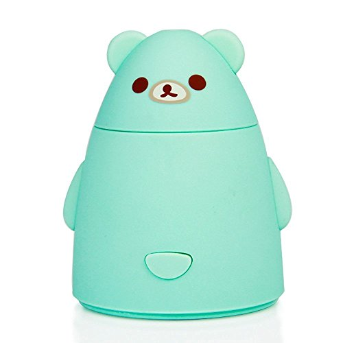 Allrise Cute Bear Aromatherapy Essential Oil Diffuser, Ultrasonic Cool Mist Humidifier / Aroma Diffuser Mini USB LED Gradient