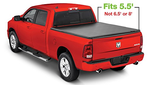 (Stampede SP-065 Tri-Fold Tonneau Cover for 2002-2018 Dodge Ram 1500, 2500 | Fits 5.5' Bed | Excludes Beds with RamBox)