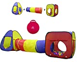 Kiddey 3pc Kids Play Tent Crawl Tunnel and Ball Pit Set – Durable Pop Up Playhouse Tent for Boys, Girls, Babies, Toddlers & Pets – for Indoor & Outdoor Use, With Carrying Case, -Great